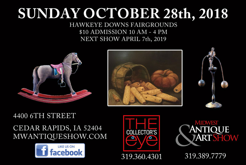 Antiques show in Cedar Rapids, IA
